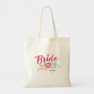 Bolso rosado de la novia de la acuarela con las