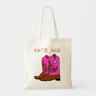 Bolso rosado de la plantilla del nombre de la
