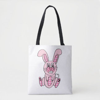 Bolso rosado personalizado del conejito de pascua