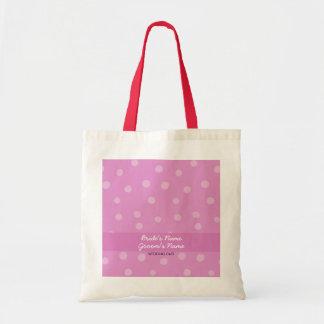 Bolso rosado pintado del regalo de boda de los pun bolsa tela barata