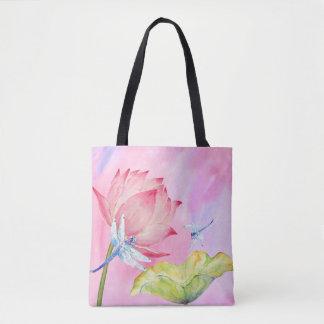 bolso rosado suave del verano de la acuarela de