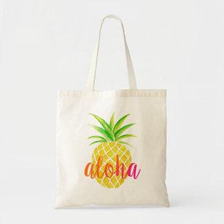 Bolso rosado tropical de la hawaiana de la