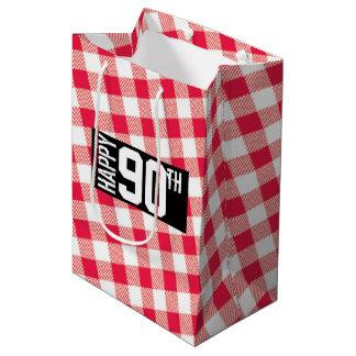 Bolso temático del regalo de la comida campestre bolsa de regalo mediana