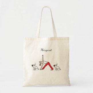 Bolso tricolor de la yoga de Jack Russell Terrier