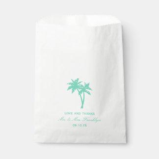 Bolso tropical del favor del boda de playa de la bolsa de papel