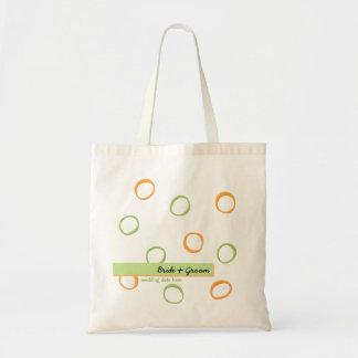 Bolso verde anaranjado pintado del boda de los cír bolsa de mano