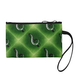 Bolso verde de la música del teclado del Clef