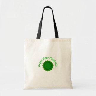 Bolso verde de las originales del engranaje bolsa tela barata
