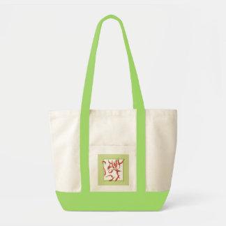 Bolso verde de los chiles candentes bolsas