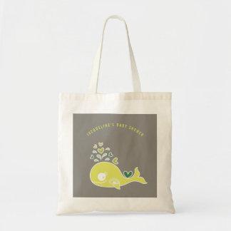 Bolso verde embarazada del regalo de la fiesta de