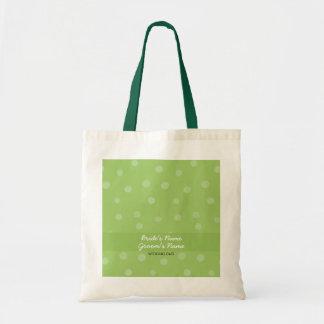 Bolso verde pintado del regalo de boda de los punt bolsas lienzo