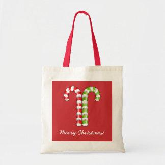 Bolso verde rojo de los bastones de caramelo bolsa de mano