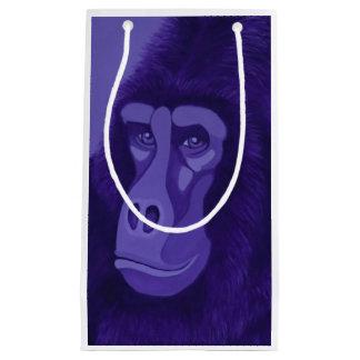 Bolso violeta del regalo del gorila bolsa de regalo pequeña