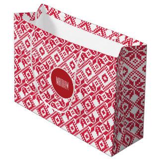 Bolsos conocidos de encargo del regalo del navidad bolsa de regalo grande