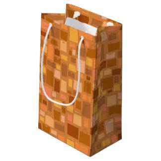 Bolsos de compras modelo, colores del otoño bolsa de regalo pequeña