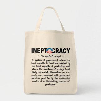 Bolsos de Ineptocracy Tote&Grocery de la administr Bolsa Tela Para La Compra