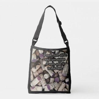 Bolsos de la cita de los corchos del vino bolsa cruzada