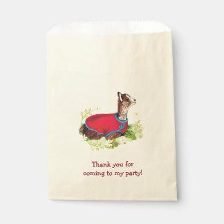 Bolsos de rubíes del favor de la fiesta de bolsa de papel