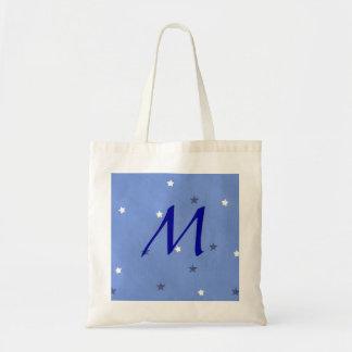 Bolsos del boda del monograma de las estrellas del bolsas lienzo