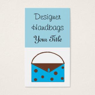 Bolsos del diseñador tarjeta de negocios