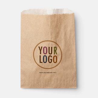 Bolsos del favor de Kraft con el logotipo de Bolsa De Papel