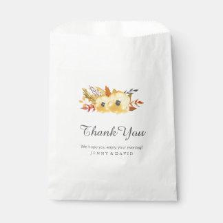 Bolsos del favor del boda de la caída (50) bolsa de papel