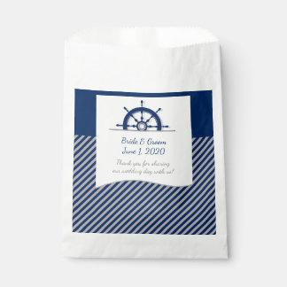 Bolsos del favor del boda de la rueda de la nave bolsa de papel