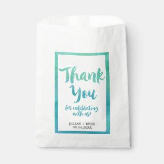 Bolsos del favor del boda de playa de la bolsa de papel