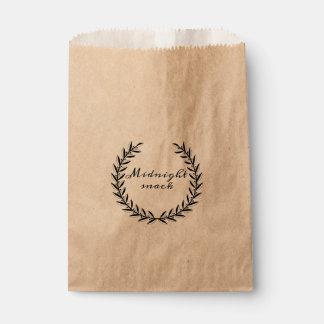 Bolsos del favor del boda del bocado de medianoche bolsa de papel