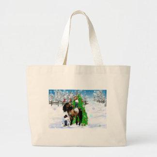 Bolsos del navidad de un caballo y del niño bolsas