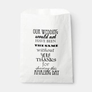 Bolsos del pastel de bodas/del favor bolsa de papel