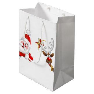 bolsos del regalo del navidad bolsa de regalo mediana