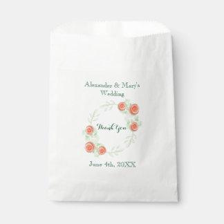 Bolsos florales del favor del boda - diseño de la bolsa de papel