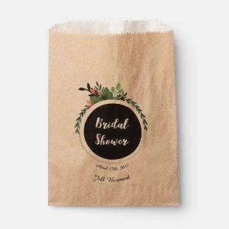 Bolsos nupciales del favor de la ducha bolsa de papel