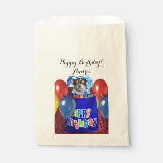 Bolsos personalizados de la invitación del perro bolsa de papel