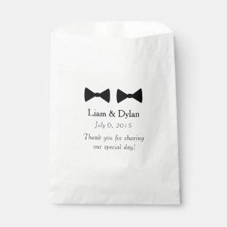 """Bolsos personalizados del favor """"de la pajarita bolsa de papel"""