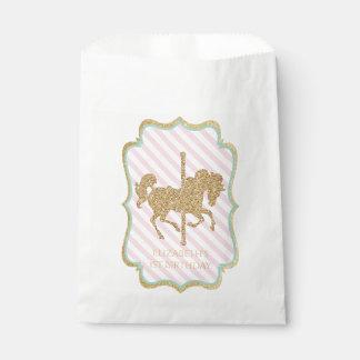 Bolsos temáticos del favor del carrusel bolsa de papel