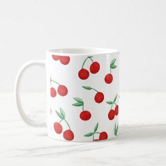 Bomba de cereza roja de la taza de café de la