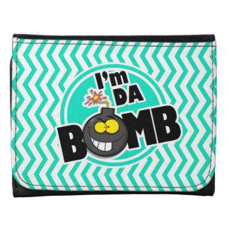 ¡Bomba de DA Aguamarina Chevron verde