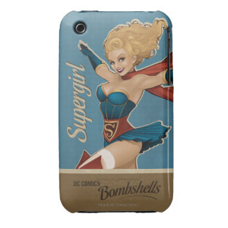 Bomba de Supergirl iPhone 3 Carcasa
