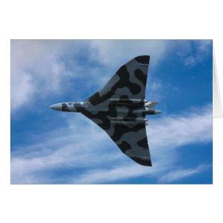 Bombardero de Vulcan en vuelo Tarjeta
