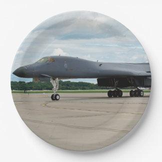 Bombardero del lancero de B-1B en la tierra Plato De Papel