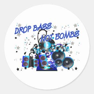 Bombas del bajo del descenso no pegatina redonda