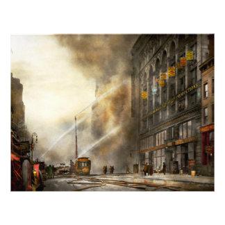 Bombero - Brooklyn NY - sorpresa 1909 Folleto 21,6 X 28 Cm