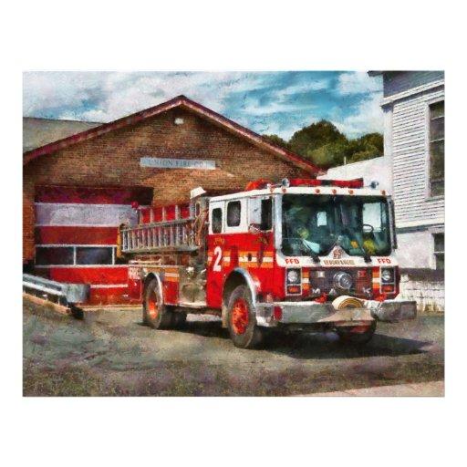Bombero - compañía de bomberos 1 de la unión flyer a todo color