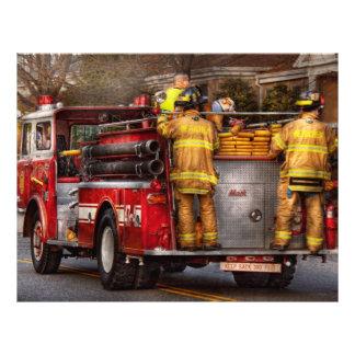Bombero - cuerpo de bomberos de Metuchen Folleto 21,6 X 28 Cm
