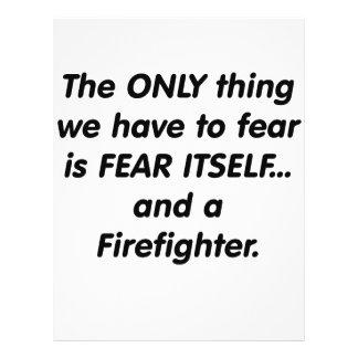 Bombero del miedo flyer personalizado