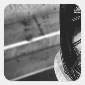 Bombero diario abstracto pegatinas cuadradases