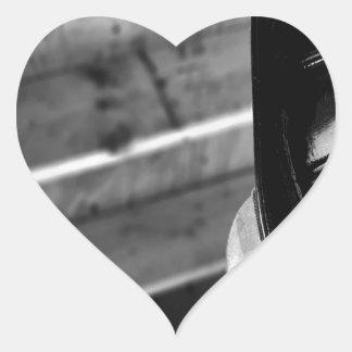 Bombero diario abstracto calcomanía corazón