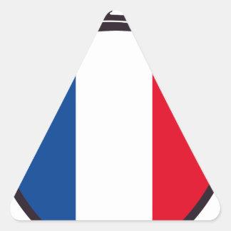 bombero Francia Pegatina Triangular